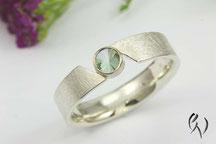 Turmalinring, Ring Silber