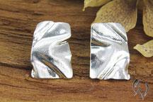 Ohrstecker Silber, Handarbeit