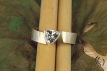 Ring SIlber mit Gold 585/-, Turmalinring