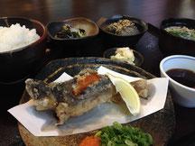 イワナ唐揚げ定食 1,200円