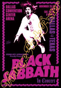 Ozzy Osbourne, Black Sabbath, Black Sabbath concert, Black Sabbath Dallas, Black Sabbath 1978