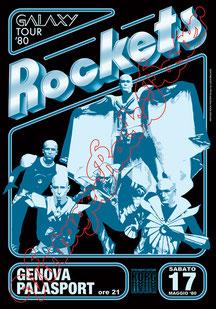 Les Rockets, Rockets, rockets poster, vintage rock poster, rockets genova 1980