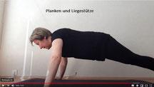 Planken und Liegestütze