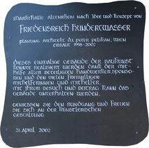 Infotafel vor der Hundertwasser Markthalle Altenrhein - Schweiz