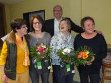 Anne Lindemann, Jutta Pape, Marianne Lange, Gabi Mutter v.l.