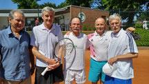 Das Team Herren-65 auf Regionalligakurs