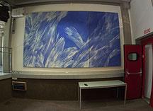 Josef Taucher, Himmel 2, 1996, Öl/Molino, 230 x 390 cm (Triptychon) Foto © P. Gottwald