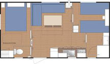 plan mobile home LAMPARO 26m2