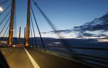 Öresundbrücke von Schweden nach Dänemark