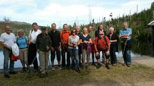 Wandergruppe Herren50 TC Grafenau und TC Aidenbach. Auf dem Bild fehlt Fotografin Luise Straubinger