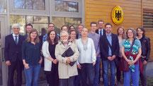 Die Gruppe besuchte die Deutsche Botschaft in Tallinn. Foto: Ulrichs