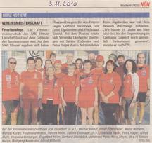 Bericht Vereinsmeisterschaft NÖN 44/2011