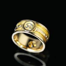 Siegelring, Goldring, Diamantring , Männerring