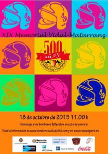XIX MEMORIAL VIDAL MATARRANZ - Valladolid, 18-10-2015