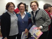 Patrizia Bergamaschi e as Irmãs Nuria Bayo, Luiza Cesca