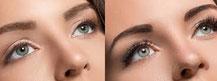 Wimpernverlängerung Vorher und Nachher