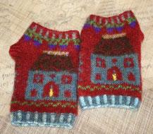 フェアアイルニット ハンドウオーマー 編み物
