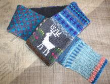 フェアアイルニット マフラー 編み物