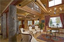 Atraktives Holzhaus in echter Blockbauweise als Wohnhaus