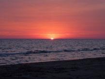 Abrivadoranch: promenade sur la Plage de l'Espiguette avec le coucher du soleil.