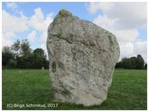 Birgit Schimkus, Megalith im Steinkreis von Avebury