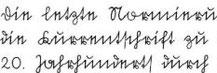 In der altdeutschen Schriftart Sütterlin geschriebener Text aus dem 20. Jahrhundert