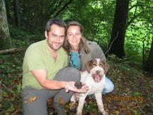 Sandra und Tino Caiazza mit Lupo