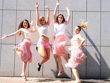 Outdoor Fotoshooting JGA Junggesellinnenabschied Party Idee feiern ELA EIS Düsseldorf
