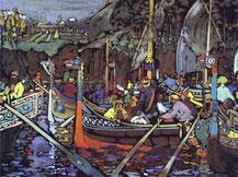 Kandinskij, La canzone del Volga, 1903