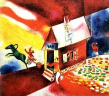 Chagall, La casa in fiamme,  1913