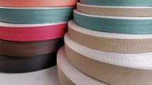 引張強度の高いダンライン糸の細巾織物