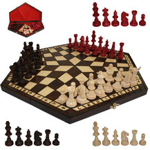 Schach für Drei aus Holz