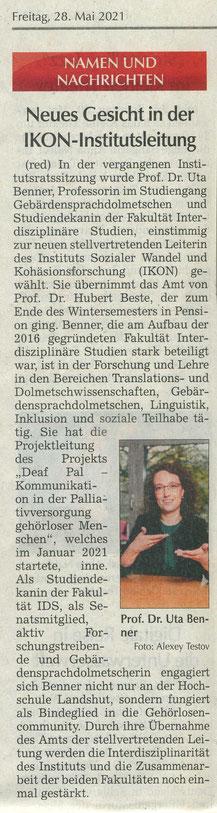 Quelle: Landshuter Zeitung 28.05.2021