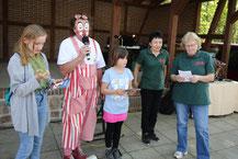 Clown Kaily, Bernd Winkler Kerkow, Dorffeste Uckermark, MOZ-Osterfete, Tierpark Angermünde, Tierparkförderverein
