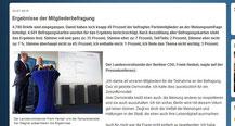 Screenshot: CDU-Landesvorsitzender Frank Henkel und Generalsekretär Kai Wegner stellen Ergebnisse vor. Sreenshot CDUBerlin-Homepage