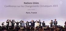 Augenblick des Sieges für die Umwelt in Paris. Screenshot 12.12.2015