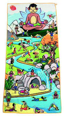 Serviette microfibre pédayoga. Matériel de Pédayoga ou yoga pédagogique pour enfants. Serviette de jeu de pedayoga enfants et scolaires à acheter pas cher.
