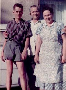 August, Maria und Helmut HItscherich