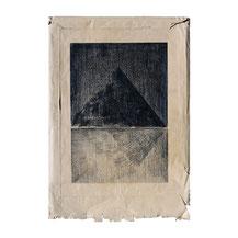 o.T., 41x31 cm, Farbstiftzeichnung auf Briefumschlag, 2018