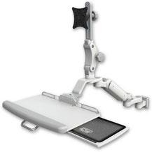 業務用モニターアーム ウォールチャネルマウント  昇降式 ディスプレイキーボード用アーム:ASUL180P-W5-KUP-AS1