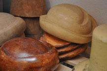 Holzformen für Hüte