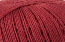 Coton Oeko-Tex rouge foncé pour bijoux au crochet