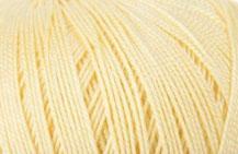 Coton Oeko-Tex jaune pastel pour bijoux au crochet