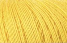 Coton Oeko-Tex jaune pour bijoux au crochet