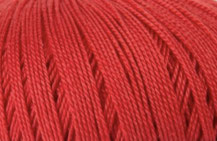 Coton Oeko-Tex rouge pour bijoux au crochet