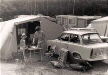 Das Jahr 1978, so fing das Campen an           mit Trabbi und Klappfix