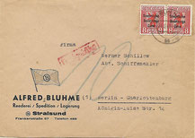 Postkrieg mit Nachgebühr wegen SBZ-Marken Berliner Bär