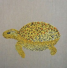 Tortue léopard, 2014, Acrylic on canvas, 30 x 30 cm