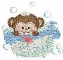 Affe in der Badewanne