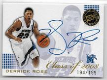 DERRICK ROSE / Class of 2008 - No. CL-DR  (#d 149/199)